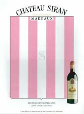▬► PUBLICITE ADVERTISING AD Vin Rouge Chateau Siran Margaux 1991