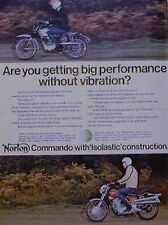 Norton Commando Isolastic Construction Color Motorcycle Ad 1970
