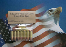 9mm Luger Snap Caps  - Dummy - Practice - Training Rounds  Set of 10.