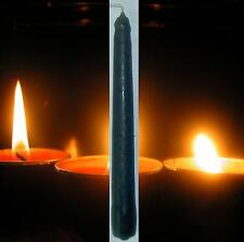 2 Solid Black Spell Candles 2 Hour Ritual 13 cm