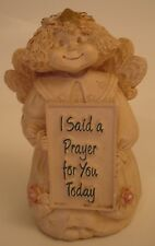 """I said a Prayer for You Today"" Angel - 3 3/4"" Tall - Resin like Material"