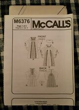 McCall's sewing pattern 6376 child's Renaissance costume dress age 3-8 no cover