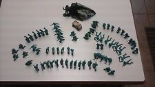 ARMY SOLDIERS  LOT OF 72 2 inch WITH 5 INCHES PARACHUTER AND METAL JEEP