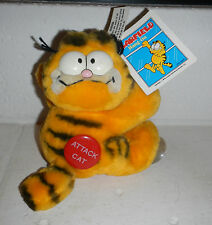 NWT VTG 1981 Garfield The Attack Cat Hang On Car Window Suction Plush Toy Dakin