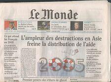 ▬► JOURNAL DE NAISSANCE / ANNIVERSAIRE Le Monde du 12 Mars 2005