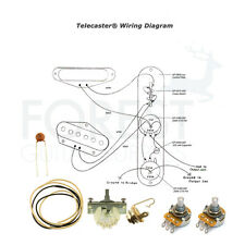 Wiring kit for Fender® Telecaster guitars® Switchcraft, CTS pots, CRL 3 way