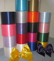 """SATIN SASH RIBBON 4"""" (100mm) WIDE, CHOICE OF 20 COLOURS, IDEAL FOR HEN NIGHTS"""