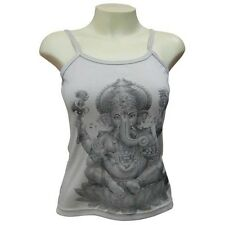 Ladies Ganesh India T-Shirt Vest Singlet Manga Anime Strappy Top Adult  UK 8-10