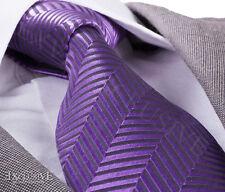 Nouveau design italien violet zigzag cravate en soie