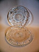 HZZ25 PAIR OF WATERFORD DESSERT PLATES, HEAVY CUT CRYSTAL, 6""