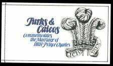 Turks And Caicos Is. 1981 SG#SB4 Royal Wedding Booklet #C5226
