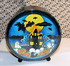 Otagiri Wind Up Halloween Moving Witch and Bats Music Box # 12/1301