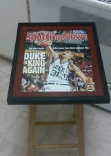 Shane Battier Duke Blue Devils Signed Sporting News 11x14 Framed Photo NBA