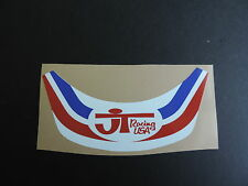 VINTAGE MOTOCROSS JT Racing Red White and Blue Visor Decal AHRMA CR KX YZ RM