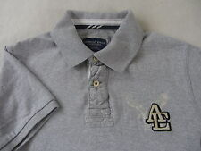 American Eagle Men's Vintage Fit Short Sleeve Gray Rugby Polo Shirt - Small