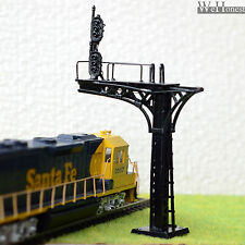 2 x HO / OO scale Cantilever Signal Bridge LED 2 heads 3+3 aspects single Track