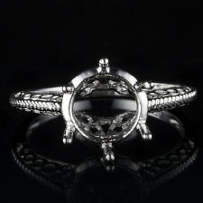 Lady Sterling Silver 925 Solitaire Semi Mount Round 8.5-9mm Cut Engagement Ring