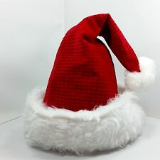 Santa Claus Christmas Hat Fur Band Textured Velveteen Costume Accessory Red USA