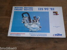 MANUEL REVUE TECHNIQUE D ATELIER MOTEUR KTM 125 VC 1992 -  REPAIR MANUAL ENGINE