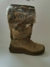 PAJAR Women's Winter Boots Size  8 Goat and Rabbit Real Fur #w05