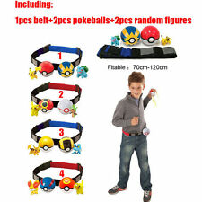 Xmas Gift Pokemon Clip n Carry Kids Adjustable Poke Ball Belt Pretend Play Game