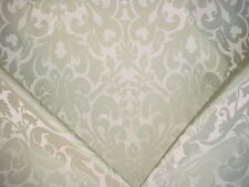 7+Y SCHUMACHER ARABESQUE MINT FLORAL / SCROLL SILK DAMASK UPHOLSTERY FABRIC