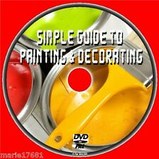 LEARN HOW TO PAINT + HANG WALLPAPER DECORATING FOR BEGINNERS HOME DIY DVD NEW