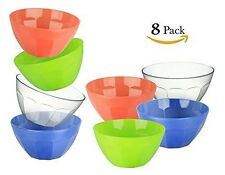 ChefLand 8-Piece Reusable Hard Plastic Soup / Cereal Bowls, 29-Ounce