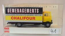Busch 1/87 40749 Mercedes Benz LP 809 LKW Kasten Demenagements Chalifour OVP#041