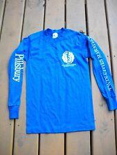"""Pillsbury """"Poppin Fresh"""" TWIN CITIES MARATHON Long Sleeve T-Shirt - Blue-White"""