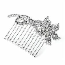 HA25806 Vintage Style Flower Crystal Hair Comb Wedding Party Prom Bride