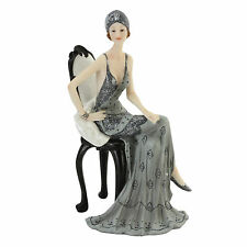 Juliana Art Deco Broadway Belles Silver /Grey Lady Figurine / Ornament.New.60751
