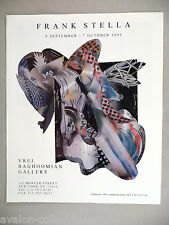 Frank Stella Art Gallery Exhibit PRINT AD - 1995 ~~ Nightgown