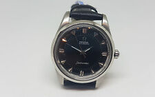 RARE VINTAGE OMEGA SEAMASTER BLACK DIAL AUTOMATIC MAN'S WATCH BIG SEAHORSE LOGO
