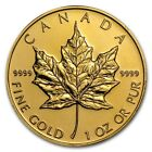 1 oz Gold Canadian Maple Leaf - Random Year - SKU #87709