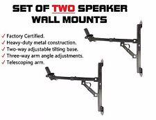 2 Pro-Audio Wall Mount Bracket Speaker Holders Stands PA DJ Mountable Brackets