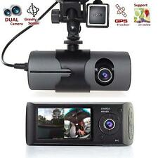 "2.7"" Dual Camera Car Black Box DVR With G-Sensor And GPS Logger VideoRecorder PO"
