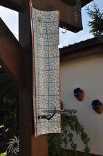Kerzenhalter Wand Terrakotta Ethno Wandkachel blau Keramik Handarbeit, Pomax