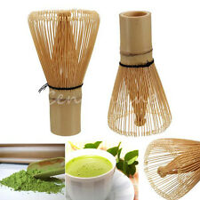 100 Prongs Natural White Bamboo Whisk Matcha Green Tea Powder Chasen Brush Tool