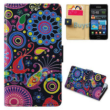 NEW Jellyfish Card Slot Wallet Leather Cover Case For Samsung Galaxy S2 i9100