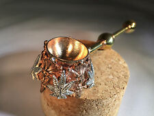 Copper and Brass, Green Man Tobacco Pipe from Seattle HEMPFEST®