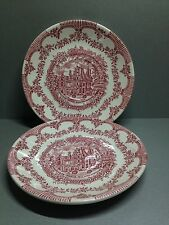2 x Vintage English Ironstone Tableware Waddesdon Manor Buckinghamshire Saucers