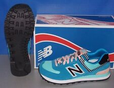 WOMENS NEW BALANCE WL 574 BFL in colors BLUE / PINK SIZE 8