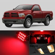 12Pcs Red LED Lights Interior Lamp Bulbs Package Kit For 2009-2015 RAM 1500 MP