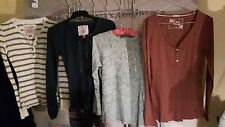 10 BUNDLE X 3 FALMER HERITAGE LONG SLEEVE TOPS WAFFLE RIBBED LACEY STRIPED VGC