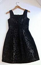 BCBG Max Azria wmns LBD sz 2 blk leopard dress jewels NWOT