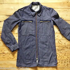 FRENCH 1970s VINTAGE MEN SAILOR WORK CHORE JACKET & ZIPPER CLOSURE - NEW - M