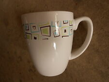 Corelle Stoneware Coffee Cup/Mug CHOCOLATE MINT Turquoise Brown Green Square
