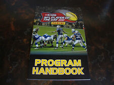 2010 Panini---NFL Player Of The Day---Program Handbook---5x8---NrMt---XHTF