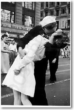 Kissing the War Goodbye - NEW World War 2 Famous VJ Day Kiss Art Print POSTER